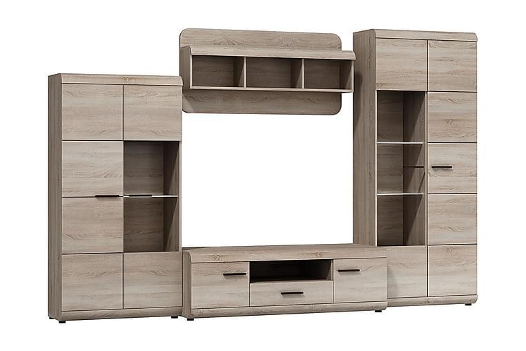 Link Vardagsrumsset 300x54x194 cm - Beige/Grå - Möbler - Möbelset - Möbelset för vardagsrum