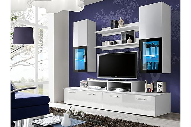 Mini Vardagsrumsset 200x45x190 cm - Vit - Möbler - TV- & Mediamöbler - TV-möbelset