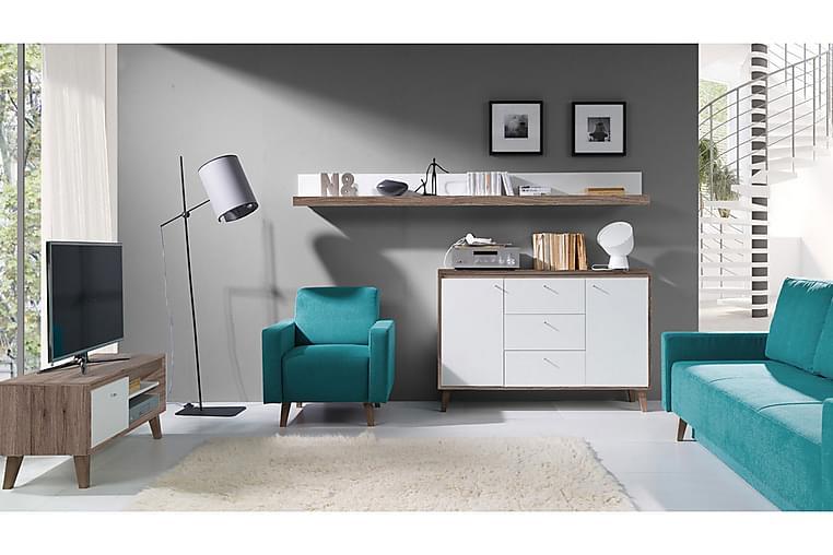 Oviedo Vardagsrumsset - Beige/Blå/Vit - Möbler - Möbelset - Möbelset för vardagsrum