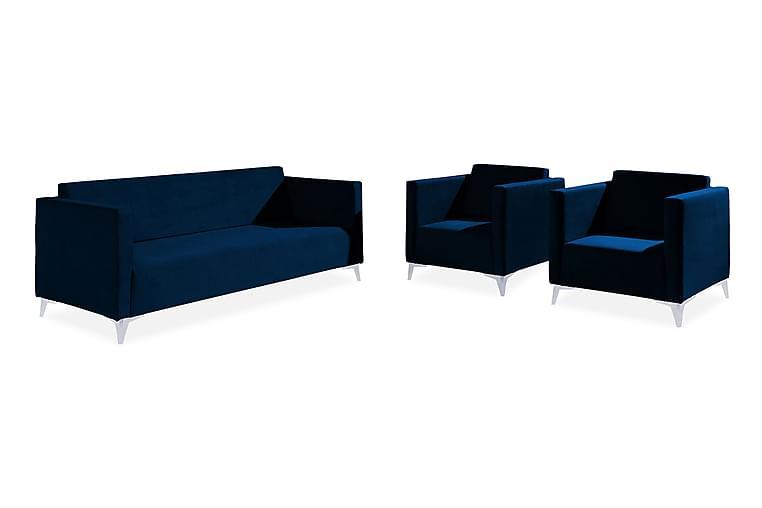 Szafir Vardagsrumsset - Vit/Högglans - Möbler - Möbelset - Möbelset för vardagsrum