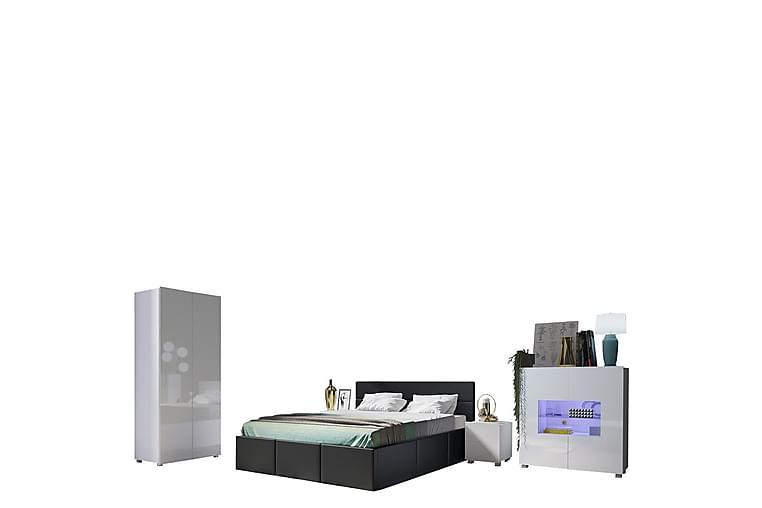 Calabrini Sovrumsset - Svart/Vit - Möbler - Möbelset - Möbelset för sovrum