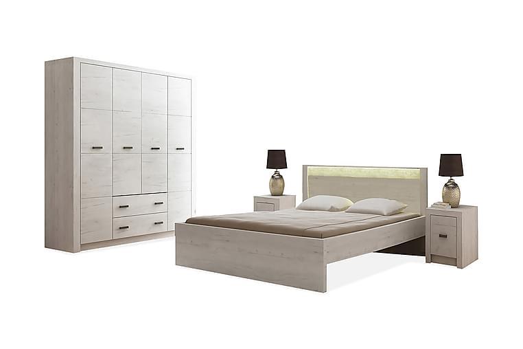 Indianapolis Sovrumsset - Beige/Grå/Vit - Möbler - Möbelset - Möbelset för sovrum