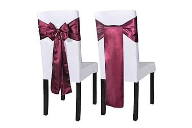 25 st dekorativa stolsskärp i vinröd satin