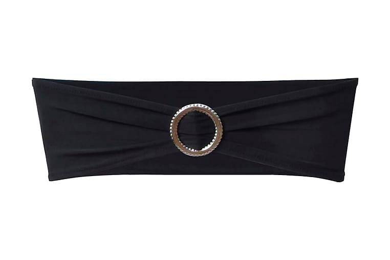 25 st svarta dekorativa stolsband med diamantspänne - Svart - Möbler - Möbelvård - Möbelöverdrag