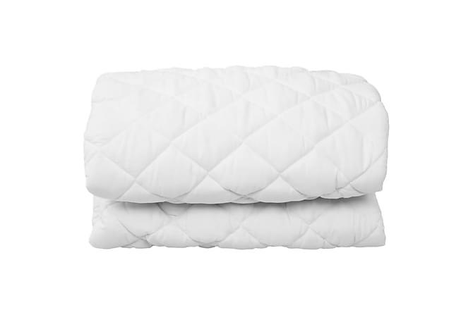 Kviltat madrasskydd vit 160x200 cm tungt - Vit - Möbler - Madrasser - Övriga madrasser & tillbehör