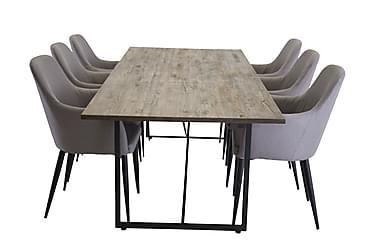 Elle Matgrupp 250 cm med 6 Casper stol