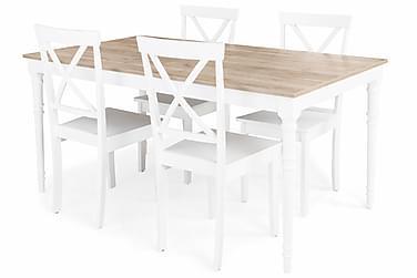 Erin Förlängningsbar Matgrupp 160 cm med 4 Mirimar Stol