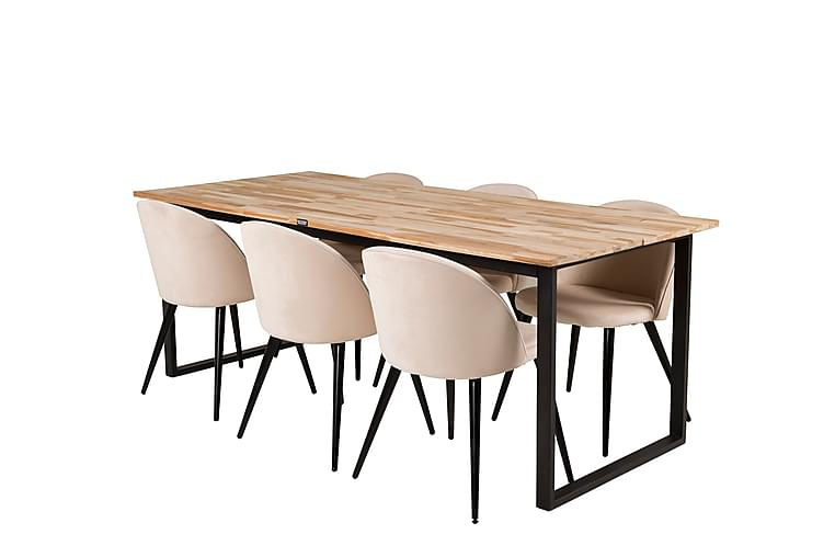 Ezra Matbord med 6 st Valeri Matstol Sammet - Möbler - Matgrupper - Rektangulär matgrupp