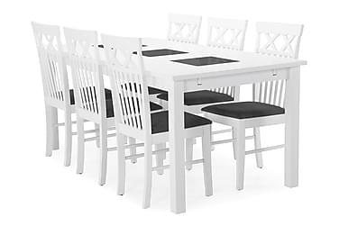 Jasmin Matbord med 6 st Rebecka stolar
