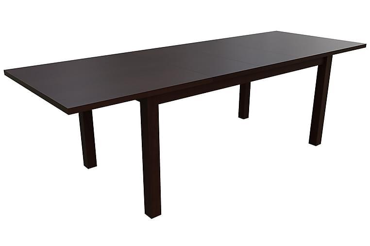 Kolima Matgrupp 170 cm inkl. 6 stolar - Vit/Brun - Möbler - Matgrupper - Rektangulär matgrupp