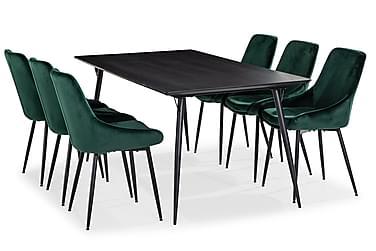 Lilo Matbord 180 cm med 6 Alsarp Köksstol
