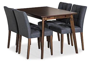 Luba Matgrupp 120 cm med 4 Dorita stol