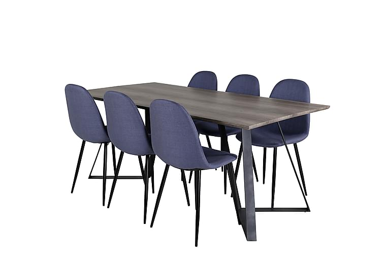 Malvina Matbord 180 cm med 6 st Ypas Matstol - Möbler - Matgrupper - Rektangulär matgrupp