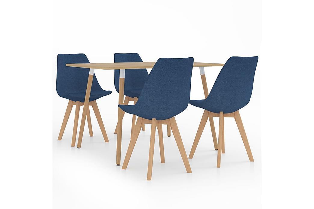 Matgrupp 5 delar blå - Blå - Möbler - Matgrupper - Rektangulär matgrupp