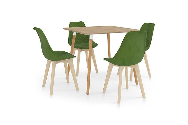 Matgrupp 5 ljusgrön - Grön - Möbler - Matgrupper - Rektangulär matgrupp