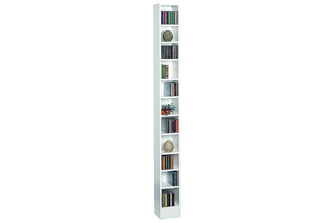 Furbo CD-hylla 20 cm - Vit - Möbler - TV- & Mediamöbler - CD-hylla & DVD-hylla