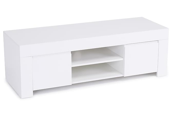 Amalfi TV-bänk 140 cm Liten 2 Luckor - Vit - Möbler - TV- & Mediamöbler - TV-bänk & mediabänk