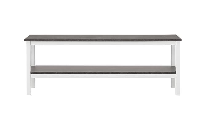 bettina tv b nk 138 cm vit betong. Black Bedroom Furniture Sets. Home Design Ideas
