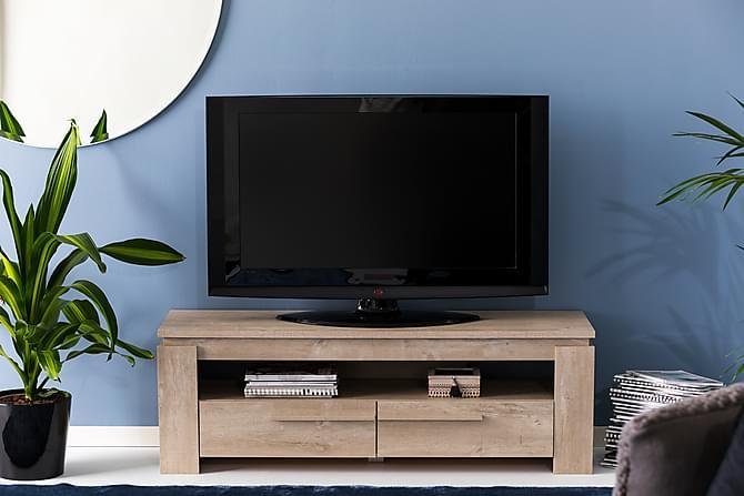 Castillo TV-bänk 140 cm - Ek/Champagne - Möbler - TV- & Mediamöbler - TV-bänk & mediabänk