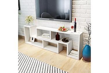 Dubbel L-formad TV-möbel vit
