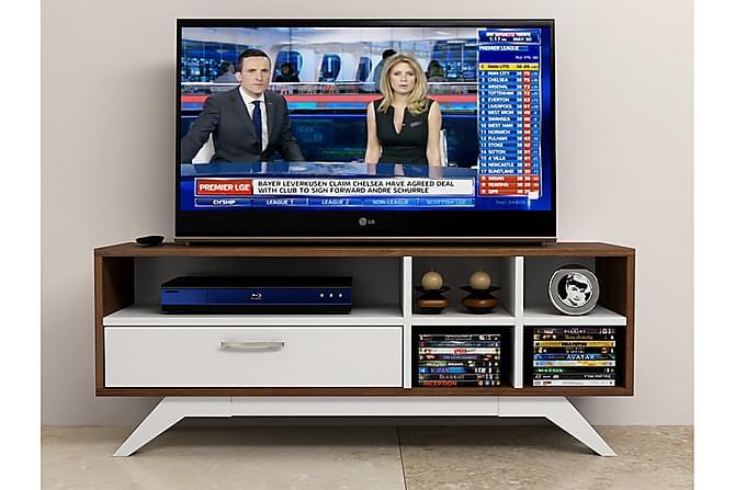 Elegancia Tv-bänk 110 cm - Valnöt/Vit - Möbler - TV- & Mediamöbler - TV-bänk & mediabänk