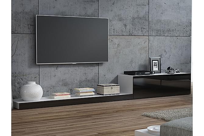 Elois TV-bänk 100 cm - Vit/Svart - Möbler - TV- & Mediamöbler - TV-bänk & mediabänk