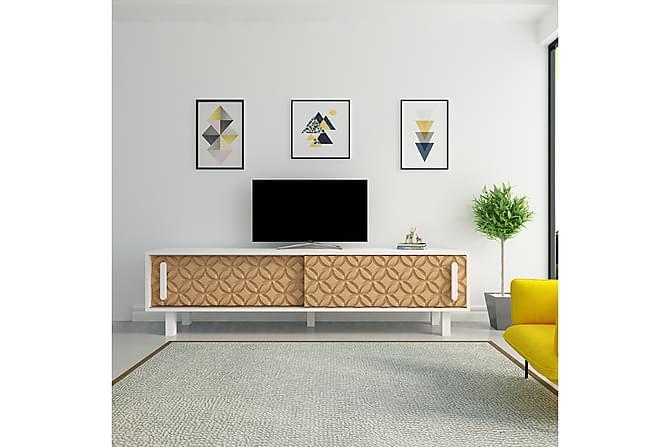 Kallboda TV-Bänk 180 cm - Brun/Vit - Möbler - TV- & Mediamöbler - TV-bänk & mediabänk