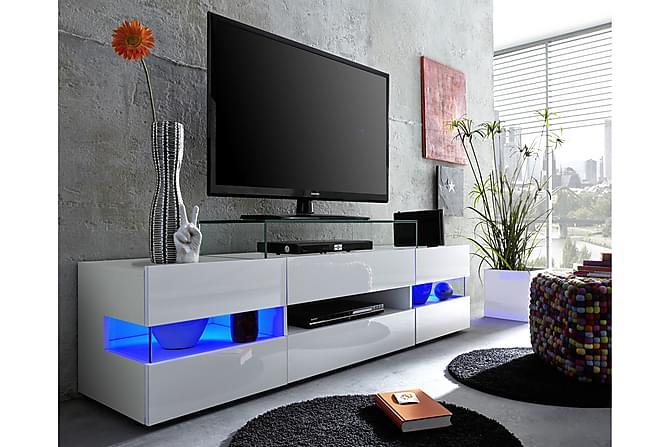 Attraktiva Shiny TV-bänk 169 cm - Vit Högglans | Trademax.se GW-93