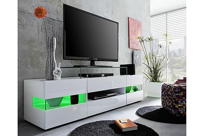 Shiny TV-bänk 169 cm - Vit Högglans - Möbler - TV- & Mediamöbler - TV-bänk & mediabänk
