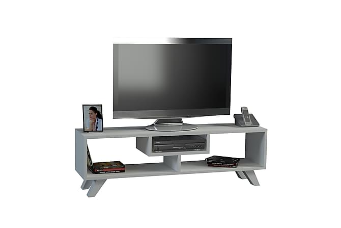 Sqandie Tv-bänk 3 Fack - Vit - Möbler - TV- & Mediamöbler - TV-bänk & mediabänk