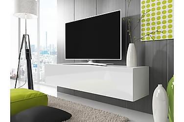 Sväva TV-bänk 160 cm LED-belysning Låda