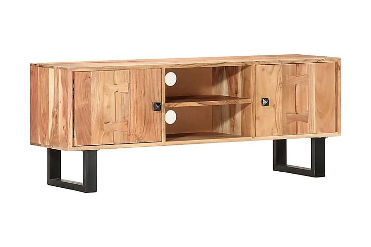 TV-bänk 118x30x45 cm massivt akaciaträ - Brun - Möbler - TV- & Mediamöbler - TV-bänk & mediabänk