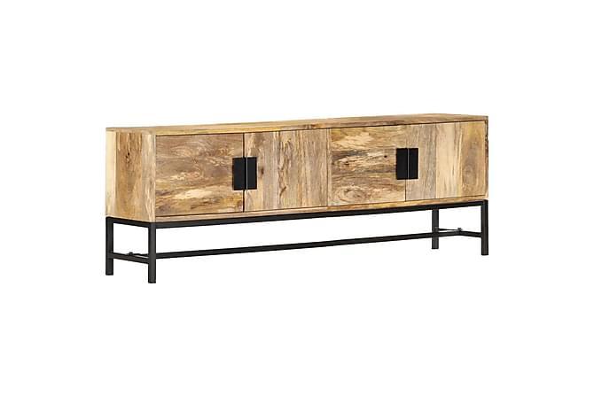 TV-bänk 140x30x50 cm massivt mangoträ - Brun - Möbler - TV- & Mediamöbler - TV-bänk & mediabänk