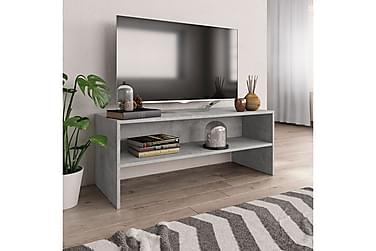 TV-bänk betonggrå 100x40x40 cm spånskiva