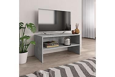 TV-bänk betonggrå 80x40x40 cm spånskiva