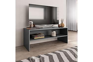TV-bänk grå 100x40x40 cm spånskiva