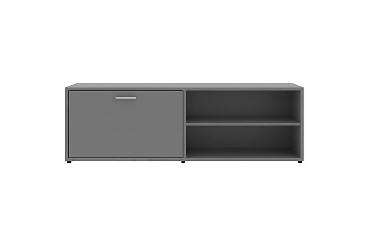 TV-bänk grå 120x34x37 cm spånskiva - Grå - Möbler - TV- & Mediamöbler - TV-bänk & mediabänk