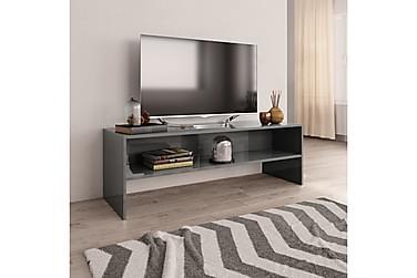 TV-bänk grå högglans 120x40x40 cm spånskiva