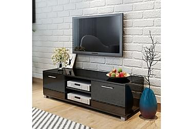 TV-bänk högglans svart 120x40,3x34,7 cm