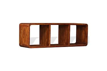 TV-bänk i massivt trä med sheesham-ytbehandling 120x30x40 cm