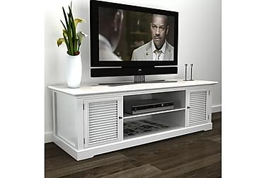 TV-bänk i trä vit