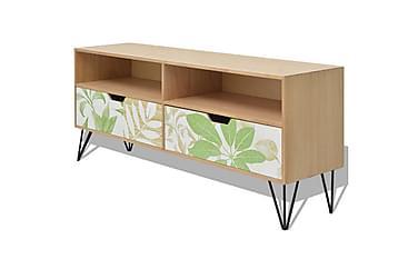 TV-bänk MDF 120x30x50 cm brun