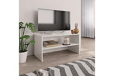 TV-bänk vit högglans 80x40x40 cm spånskiva
