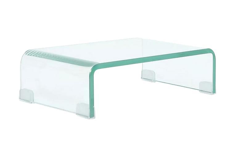 TV-bord klarglas 40x25x11 cm - Transparent - Möbler - TV- & Mediamöbler - TV-bänk & mediabänk