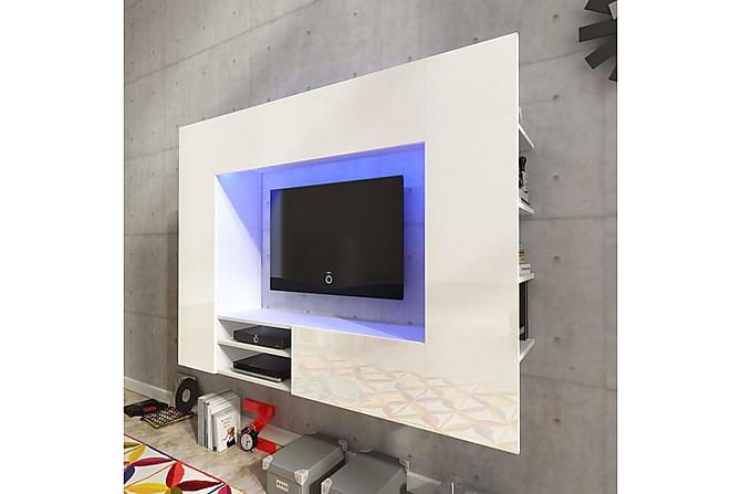 Campise TV-möbelset 169 cm med LED - Vit Högglans - Möbler - TV- & Mediamöbler - TV-möbelset