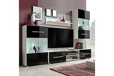Caronia TV-möbelset 240 cm med Väggskåp + LED 5 Delar