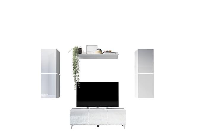 Domino TV-möbelset - Grå|Vit - Möbler - TV- & Mediamöbler - TV-möbelset