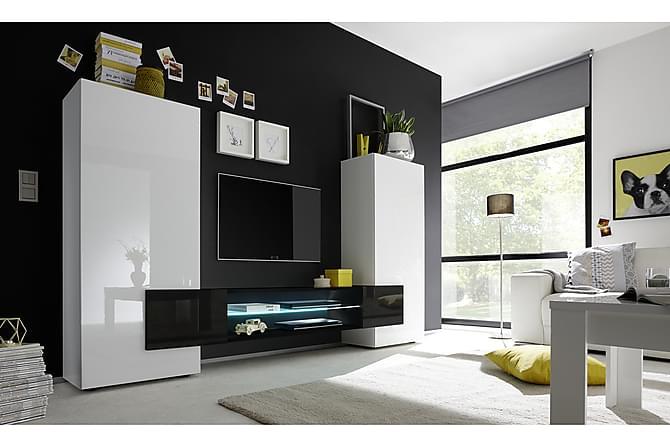 Omtalade Incastro TV-möbel 258 cm - Vit/Svart | Trademax.se VE-09