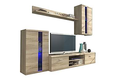 Life TV-möbelset & LED 210x42x175 cm