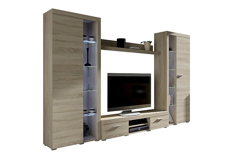 Rumba TV-möbelset 300x34x190 cm - Trä/natur - Möbler - TV- & Mediamöbler - TV-möbelset